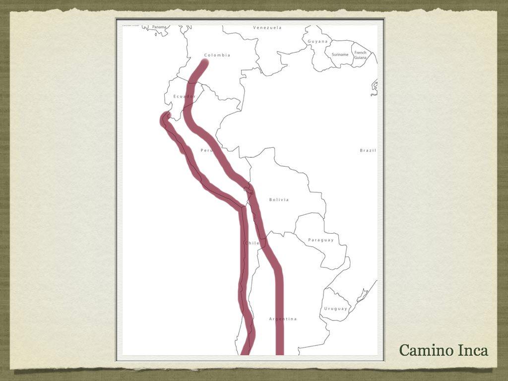 Inca Outline Map