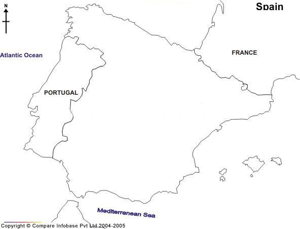 Blank Map Of Spain Regions On Blank East Us Map